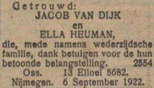 Nieuw Israëlitisch Weekblad 8-9-1922.