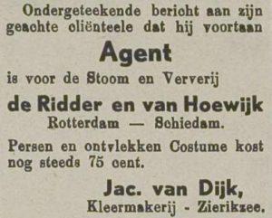 In april 1940 was Jacob nog volop bezig zijn zaken uit te breiden. Zierikzeesche Nieuwsbode 9-4-1940.