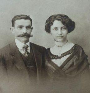 Abraham Spalter en Delphine Dreijfuss. Collectie J.A. Spalter.