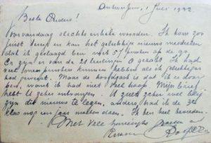 Brief van Roger d.d. 1-7-1932, waarin hij meedeelde geslaagd te zijn voor een van zijn examens. Collectie J.A. Spalter.
