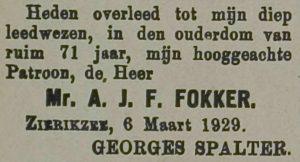Zierikzeesche Nieuwsbode 8-3-1929.