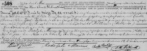 Gemeentearchief Schaarbeek, Geboorten 1894-1895, akte nr. 508.
