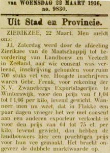 Zierikzeesche Nieuwsbode 22-3-1916.