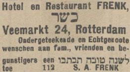 Nieuw Israëlitisch Weekblad 24-9-1919.
