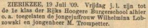 Nieuw Israëlitisch Weekblad 19-7-1909.