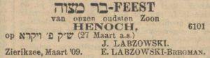 Nieuw Israëlitisch Weekblad 19-3-1909.
