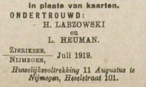 Zierikzeesche Nieuwsbode 23-7-1919.
